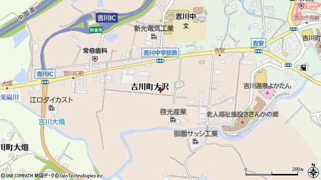 〒673-1115 兵庫県三木市吉川町大沢の地図