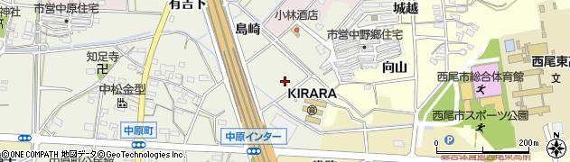 愛知県西尾市中原町(新道)周辺の地図