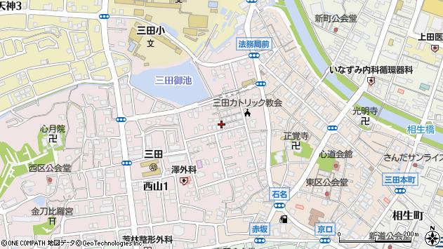 〒669-1532 兵庫県三田市屋敷町の地図
