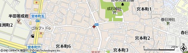 愛知県半田市宮本町周辺の地図