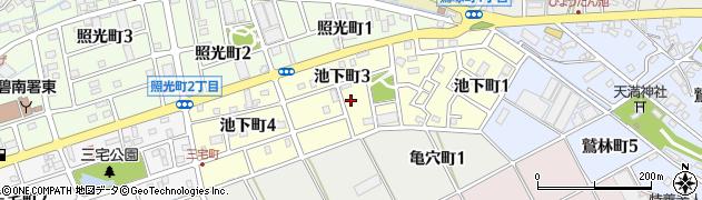愛知県碧南市池下町周辺の地図