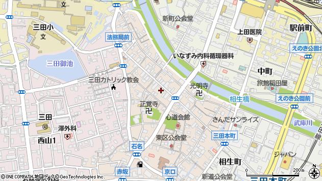 〒669-1533 兵庫県三田市三田町の地図