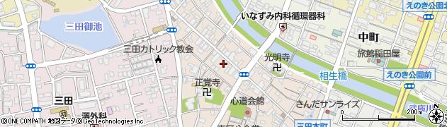 兵庫県三田市三田町周辺の地図