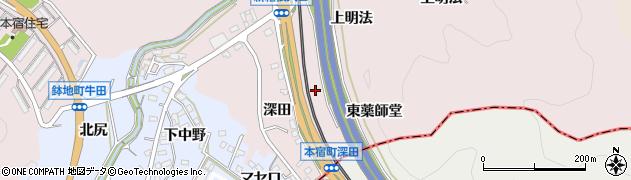 愛知県岡崎市本宿町(東薬師堂)周辺の地図