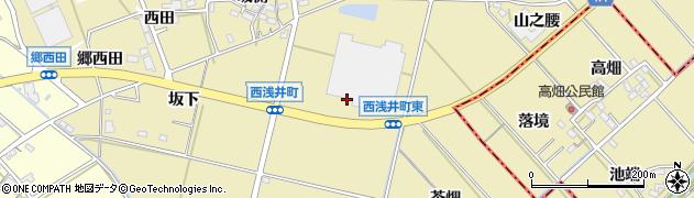 愛知県西尾市西浅井町(阿原)周辺の地図