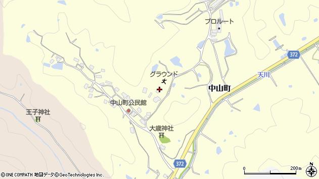 〒675-2343 兵庫県加西市中山町の地図