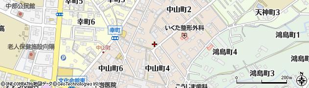 愛知県碧南市中山町周辺の地図