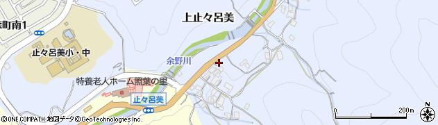大阪府箕面市上止々呂美周辺の地図