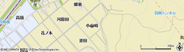 愛知県西尾市上羽角町(小山崎)周辺の地図