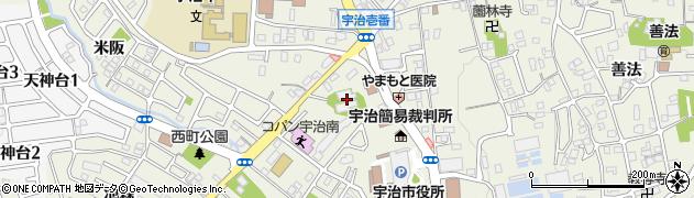 直行寺周辺の地図