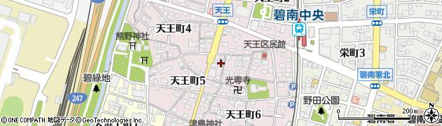 愛知県碧南市天王町周辺の地図