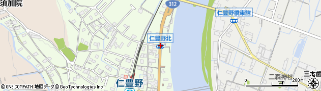 仁豊野駅東周辺の地図