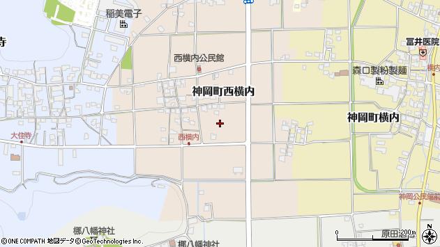 〒679-4107 兵庫県たつの市神岡町西横内の地図