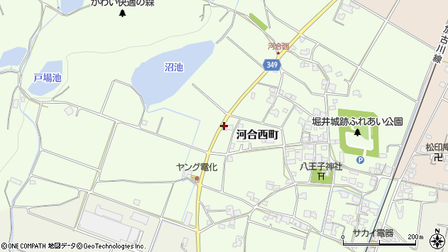〒675-1354 兵庫県小野市河合西町の地図