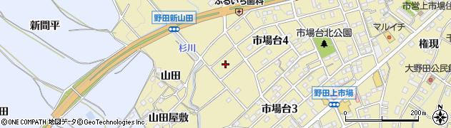 愛知県新城市野田(新山田)周辺の地図