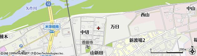 愛知県西尾市新渡場町周辺の地図