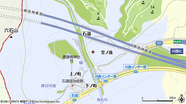 〒666-0156 兵庫県川西市石道の地図