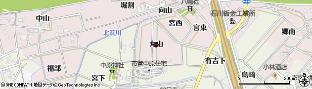 愛知県西尾市志貴野町(丸山)周辺の地図