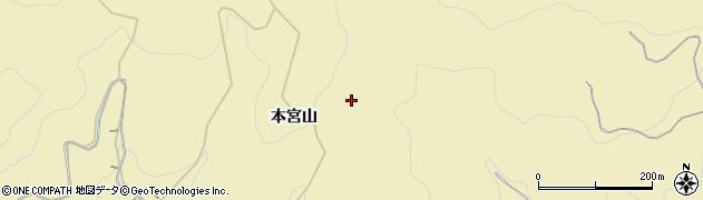 愛知県豊川市東上町(本宮山)周辺の地図