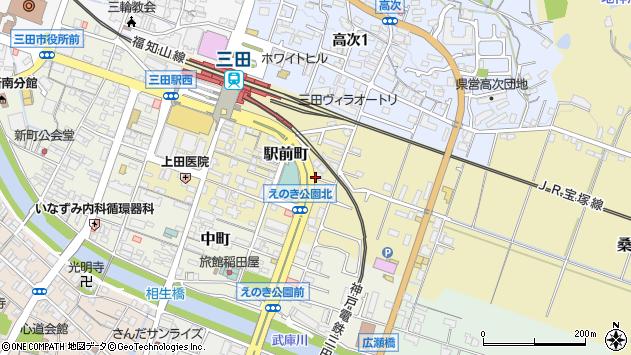 〒669-1528 兵庫県三田市駅前町の地図