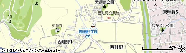 兵庫県川西市西畦野(堂田)周辺の地図