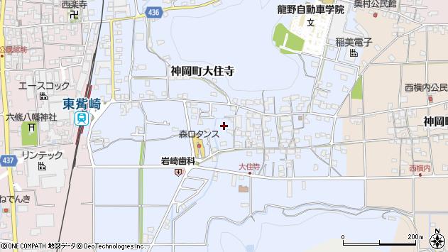 〒679-4108 兵庫県たつの市神岡町大住寺の地図