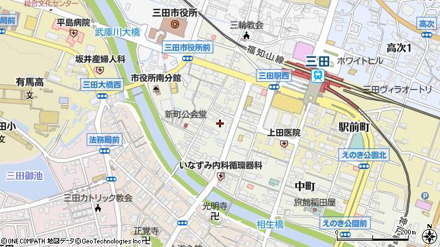 〒669-1529 兵庫県三田市中央町の地図