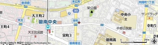 愛知県碧南市栄町周辺の地図