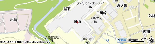 愛知県西尾市小島町(城山)周辺の地図