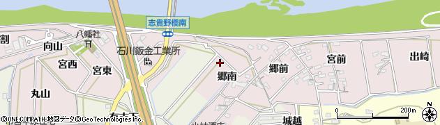 愛知県西尾市志貴野町周辺の地図