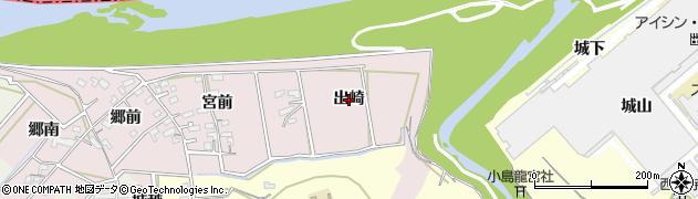 愛知県西尾市志貴野町(出崎)周辺の地図