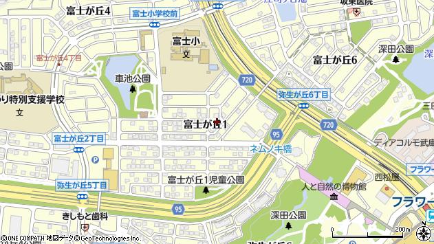 〒669-1547 兵庫県三田市富士が丘の地図
