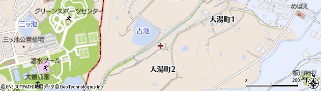 愛知県半田市大湯町周辺の地図