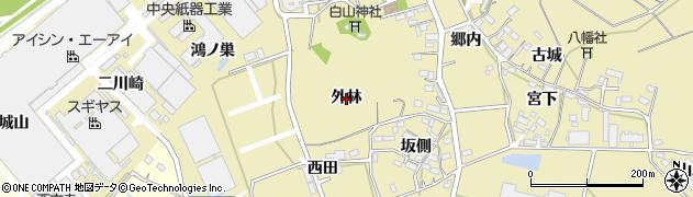 愛知県西尾市西浅井町(外林)周辺の地図
