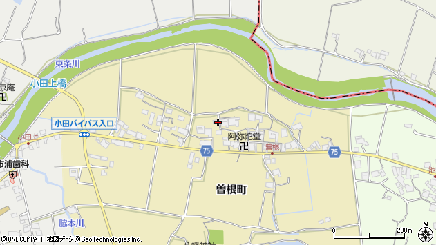 〒675-1302 兵庫県小野市曽根町の地図