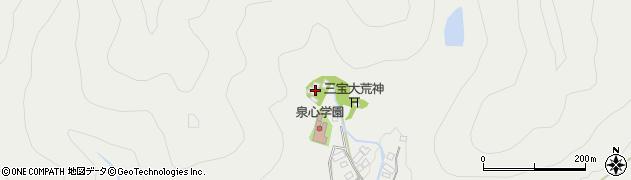 白水寺周辺の地図