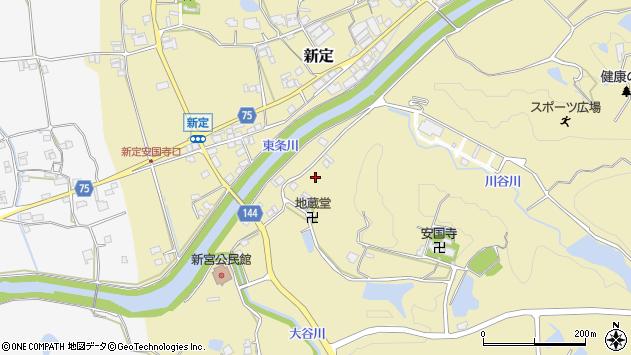 〒673-1324 兵庫県加東市新定の地図