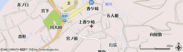 愛知県新城市庭野(上香ケ崎)周辺の地図