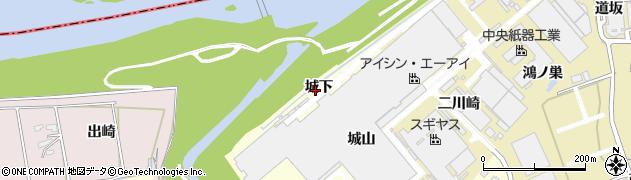 愛知県西尾市小島町(城下)周辺の地図