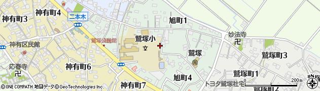 愛知県碧南市旭町周辺の地図