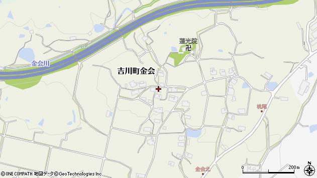 〒673-1232 兵庫県三木市吉川町金会の地図