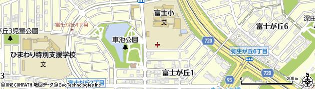 兵庫県三田市富士が丘周辺の地図