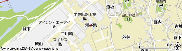愛知県西尾市西浅井町(鴻ノ巣)周辺の地図