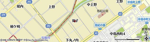 愛知県岡崎市中島町(荒子)周辺の地図