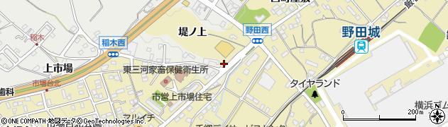 愛知県新城市野田(堤上)周辺の地図