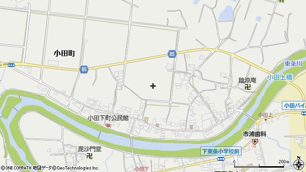 〒675-1301 兵庫県小野市小田町の地図
