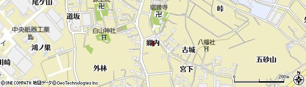 愛知県西尾市西浅井町(郷内)周辺の地図