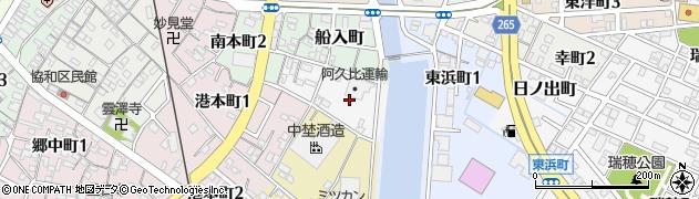 愛知県半田市浜町周辺の地図