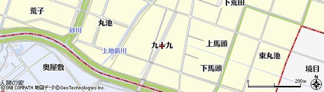 愛知県岡崎市福岡町(九十九)周辺の地図