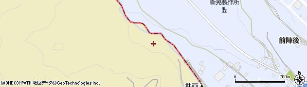 愛知県豊川市東上町(井戸入)周辺の地図